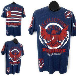 Affliction Graphic T-Shirt M Blue Kickboxing AKA